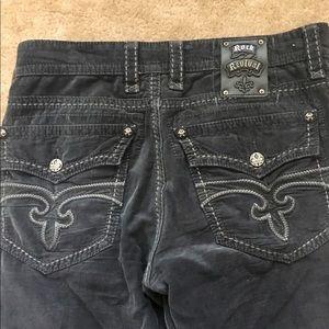 Men's 33x32 Rock Revival Black Corduroy Jeans
